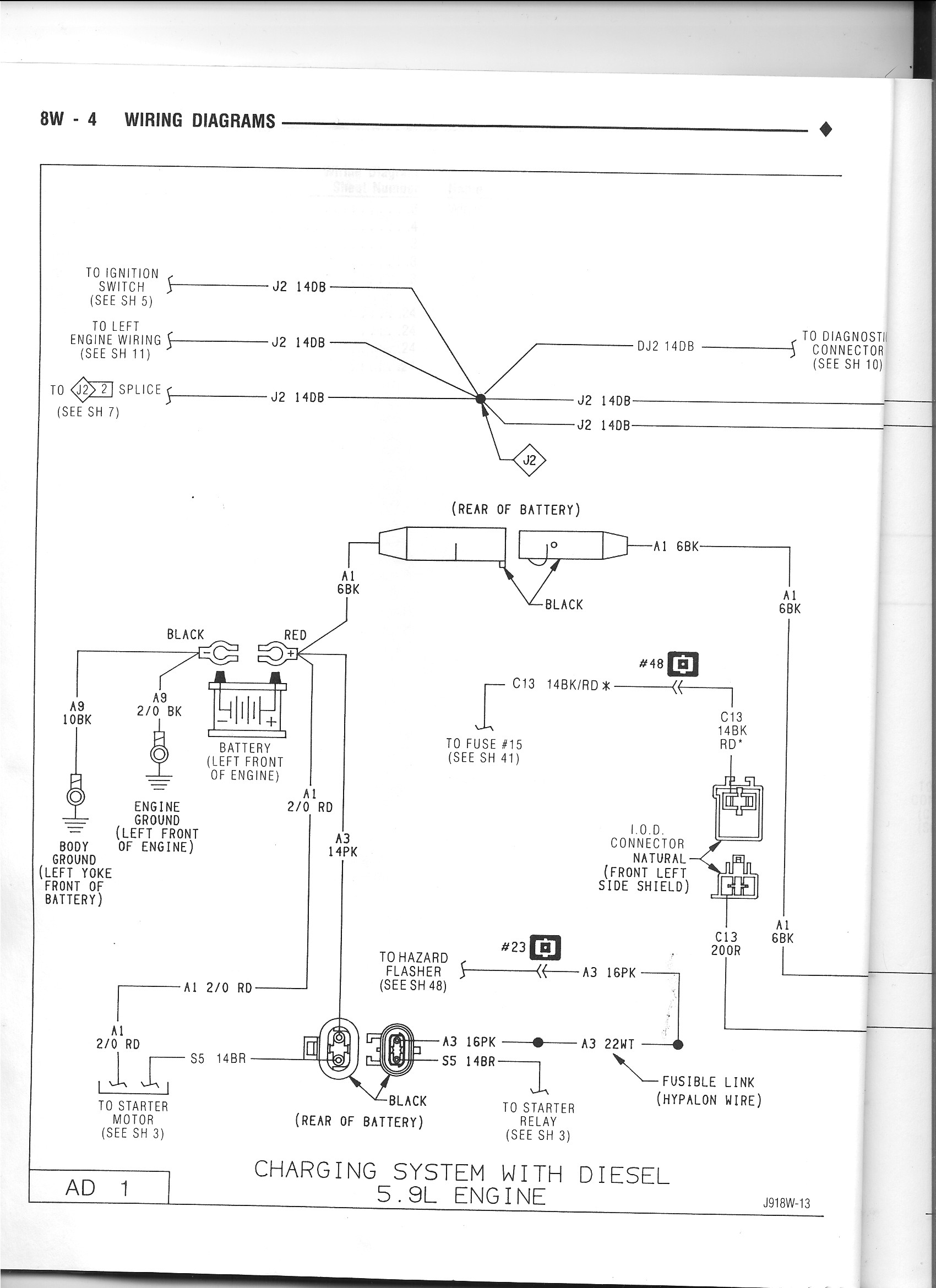 power wire melted when trying to crank - dodge cummins ... 1991 dodge w250 wiring diagram 1991 dodge stealth wiring diagram