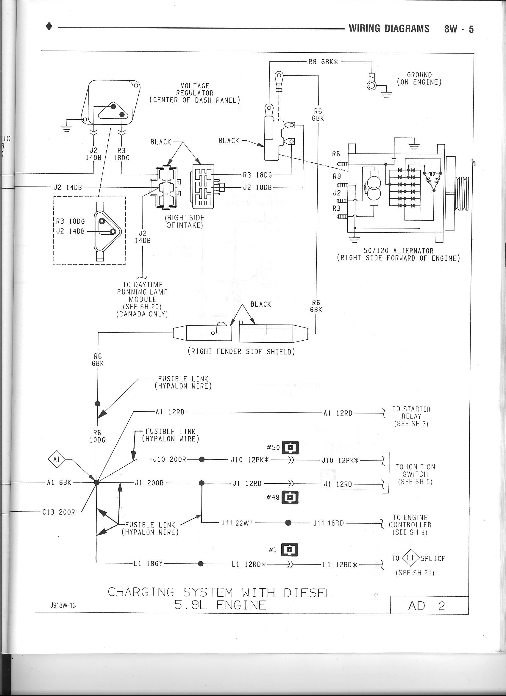 alternator 101 dodge diesel diesel truck resource forums rh dieseltruckresource com 1992 Dodge Dakota Wiring Diagram 1991 Dodge B350 Wiring Diagrams