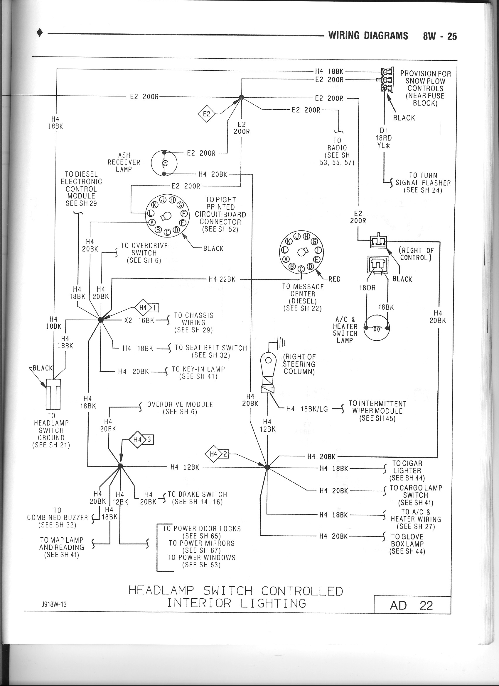 No Dash Lights Dodge Diesel Truck Resource S. Follow The Wire Across Page To Diagram 25. Wiring. Diagram Pioneer Wiring Avh 5100dvd At Scoala.co