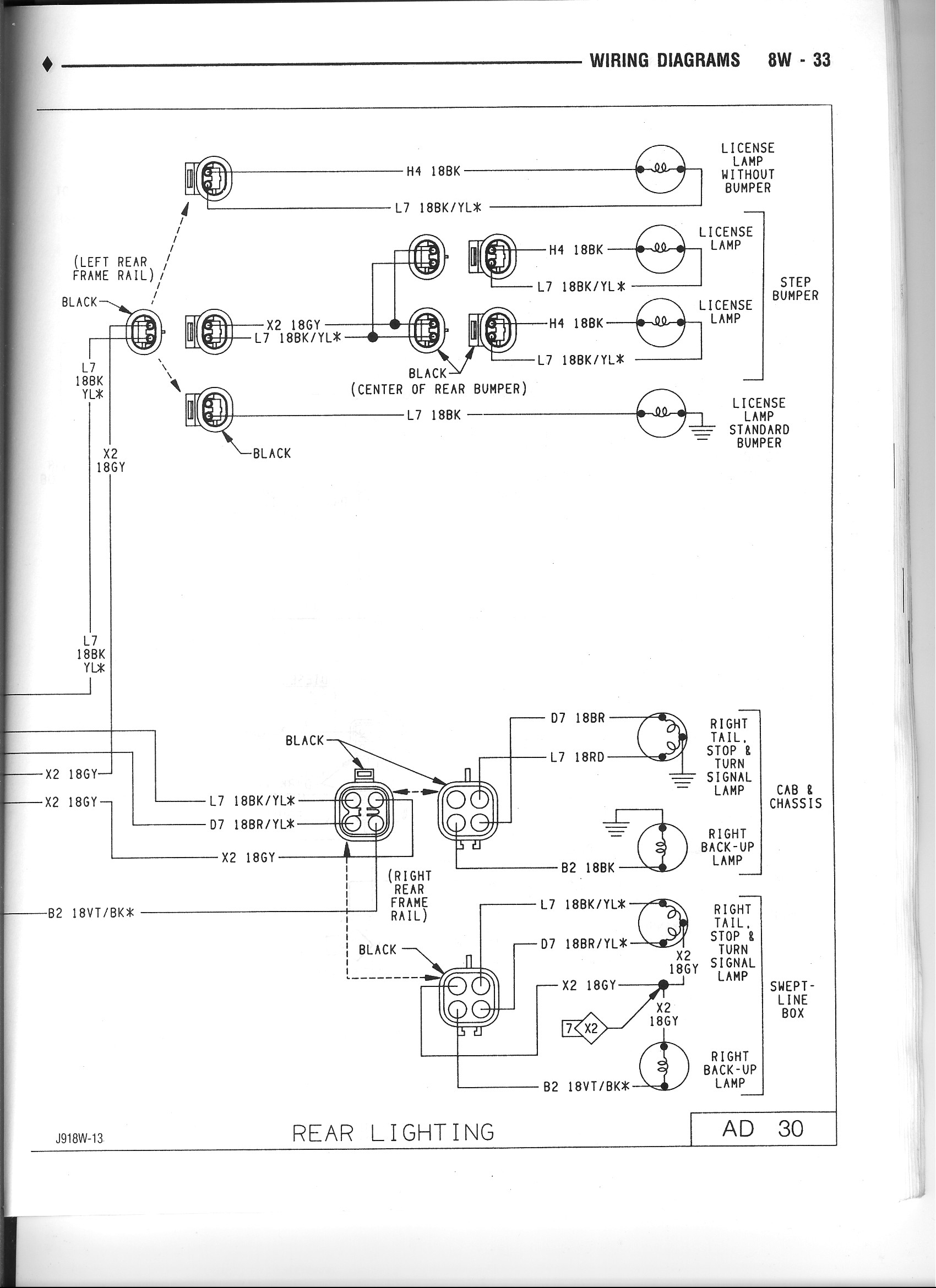 1990 Dodge Tail Light Wiring Diagram - Electrical Drawing Wiring ...